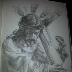 Carteles de Semana Santa: 24 X 16 ILUSTRACION SEMANA SANTA SEVILLA - VIRGEN O CRISTO , IDEAL PARA ENMARCAR. Lote 42815493