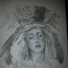 Carteles de Semana Santa: 24 X 16 ILUSTRACION SEMANA SANTA SEVILLA - VIRGEN O CRISTO , IDEAL PARA ENMARCAR. Lote 42815506