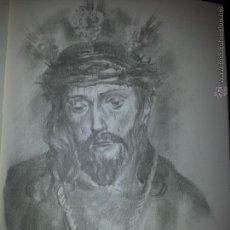 Carteles de Semana Santa: 24 X 16 ILUSTRACION SEMANA SANTA SEVILLA - VIRGEN O CRISTO , IDEAL PARA ENMARCAR. Lote 42815524