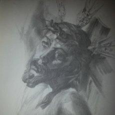 Carteles de Semana Santa: 24 X 16 ILUSTRACION SEMANA SANTA SEVILLA - VIRGEN O CRISTO , IDEAL PARA ENMARCAR. Lote 42815547