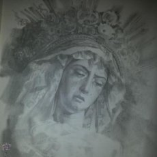 Carteles de Semana Santa: 24 X 16 ILUSTRACION SEMANA SANTA SEVILLA - VIRGEN O CRISTO , IDEAL PARA ENMARCAR. Lote 42815551