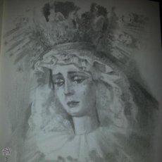 Carteles de Semana Santa: 24 X 16 ILUSTRACION SEMANA SANTA SEVILLA - VIRGEN O CRISTO , IDEAL PARA ENMARCAR. Lote 42815564