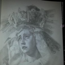 Carteles de Semana Santa: 24 X 16 ILUSTRACION SEMANA SANTA SEVILLA - VIRGEN O CRISTO , IDEAL PARA ENMARCAR. Lote 42815581