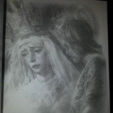 Carteles de Semana Santa: 24 X 16 ILUSTRACION SEMANA SANTA SEVILLA - VIRGEN O CRISTO , IDEAL PARA ENMARCAR. Lote 42815636