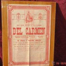 Carteles de Semana Santa: CARTEL ANUAL Y SOLENNE NOVENA HERMANDAD SANTO ESCAPULARIO-MARIA SANTISMA DEL CARMEN -8 JULIO 1920. Lote 42832047