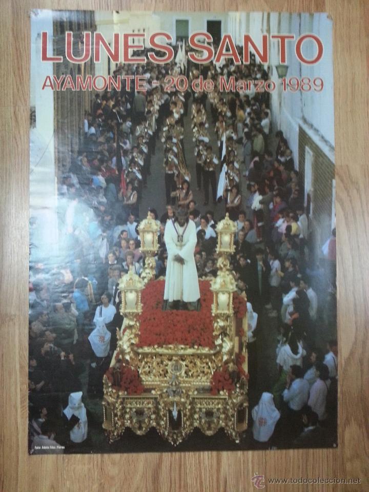 CARTEL SEMANA SANTA AYAMONTE 1989 48X70 CM. (Coleccionismo - Carteles Gran Formato - Carteles Semana Santa)