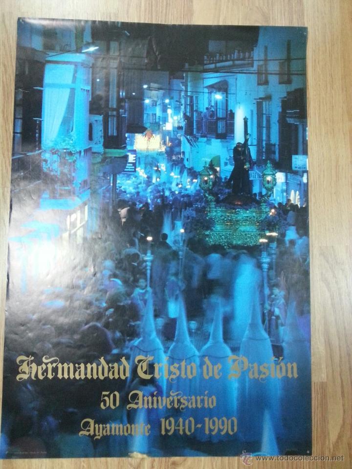 CARTEL SEMANA SANTA AYAMONTE 1990 50 ANIVERSARIO 48X70 CM. (Coleccionismo - Carteles Gran Formato - Carteles Semana Santa)