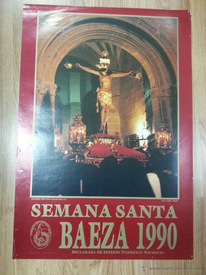 CARTEL SEMANA SANTA BAEZA 1990 48X69 CM. (Coleccionismo - Carteles Gran Formato - Carteles Semana Santa)