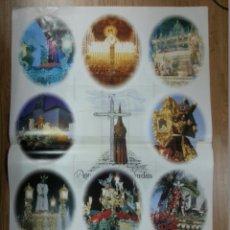 Carteles de Semana Santa: CARTEL SEMANA SANTA AYAMONTE - 50 AÑOS 1991 70X99 CM.. Lote 43392455