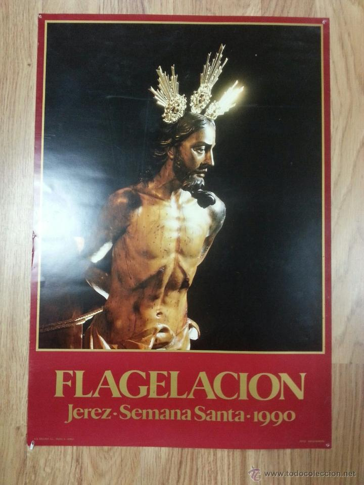 CARTEL SEMANA SANTA JEREZ 1990 34X49 CM. (Coleccionismo - Carteles Gran Formato - Carteles Semana Santa)
