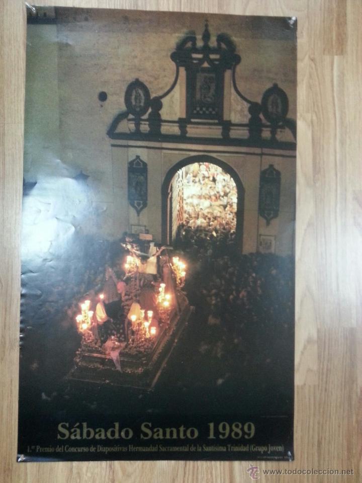 CARTEL SEMANA SANTA SEVILLA SÁBADO SANTO 1989 42X69 CM (Coleccionismo - Carteles Gran Formato - Carteles Semana Santa)