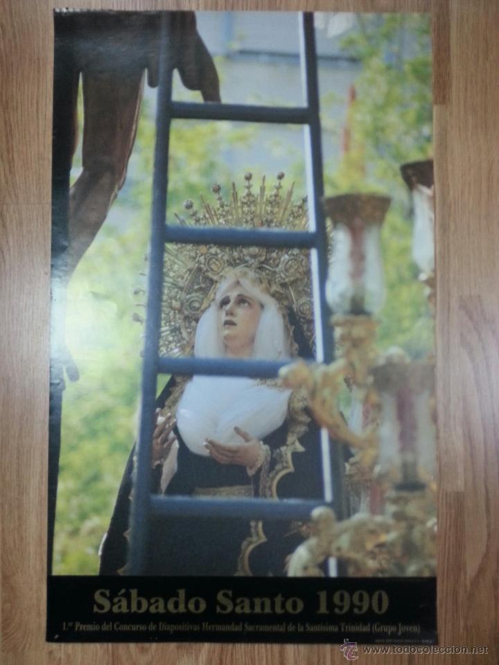 CARTEL SEMANA SANTA SEVILLA SÁBADO SANTO 1990 42X69 CM (Coleccionismo - Carteles Gran Formato - Carteles Semana Santa)