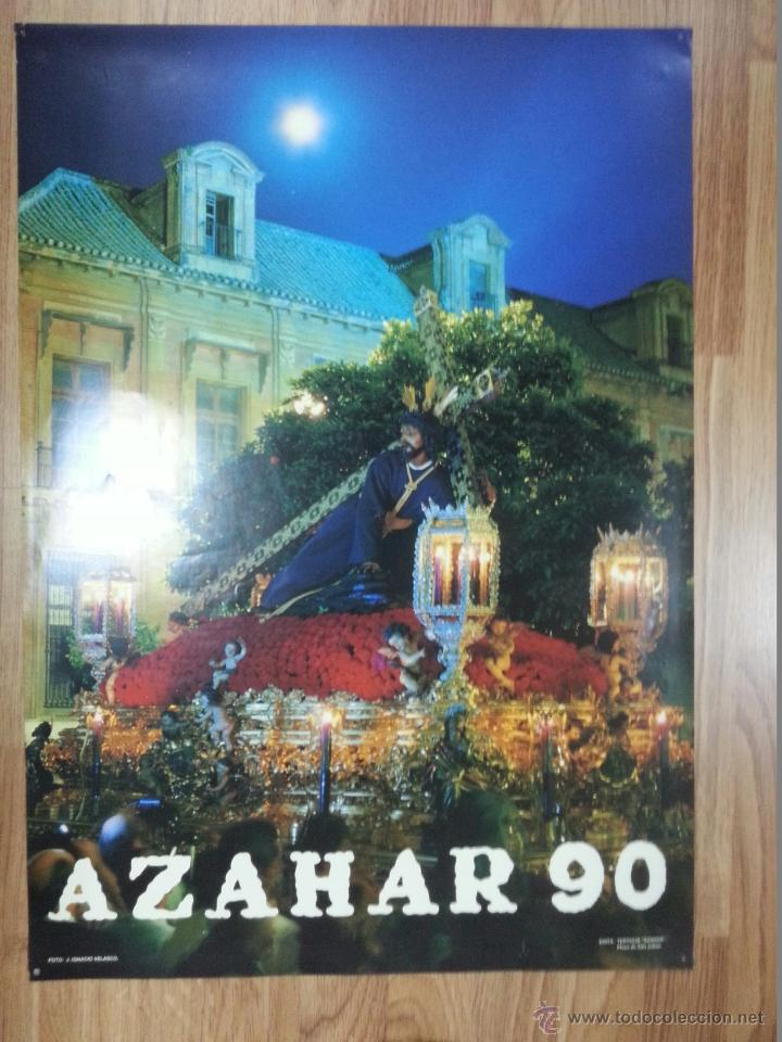 CARTEL SEMANA SANTA AZAHAR 1990 49X69 CM (Coleccionismo - Carteles Gran Formato - Carteles Semana Santa)