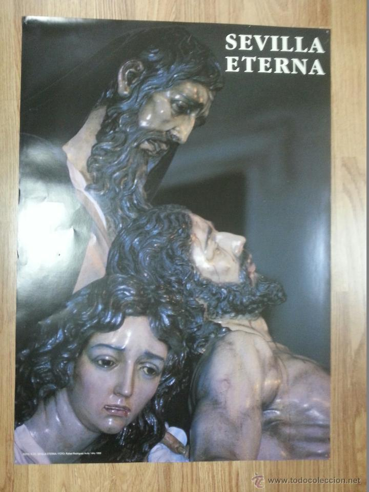 CARTEL SEMANA SANTA SEVILLA ETERNA 1990 49X68 CM (Coleccionismo - Carteles Gran Formato - Carteles Semana Santa)