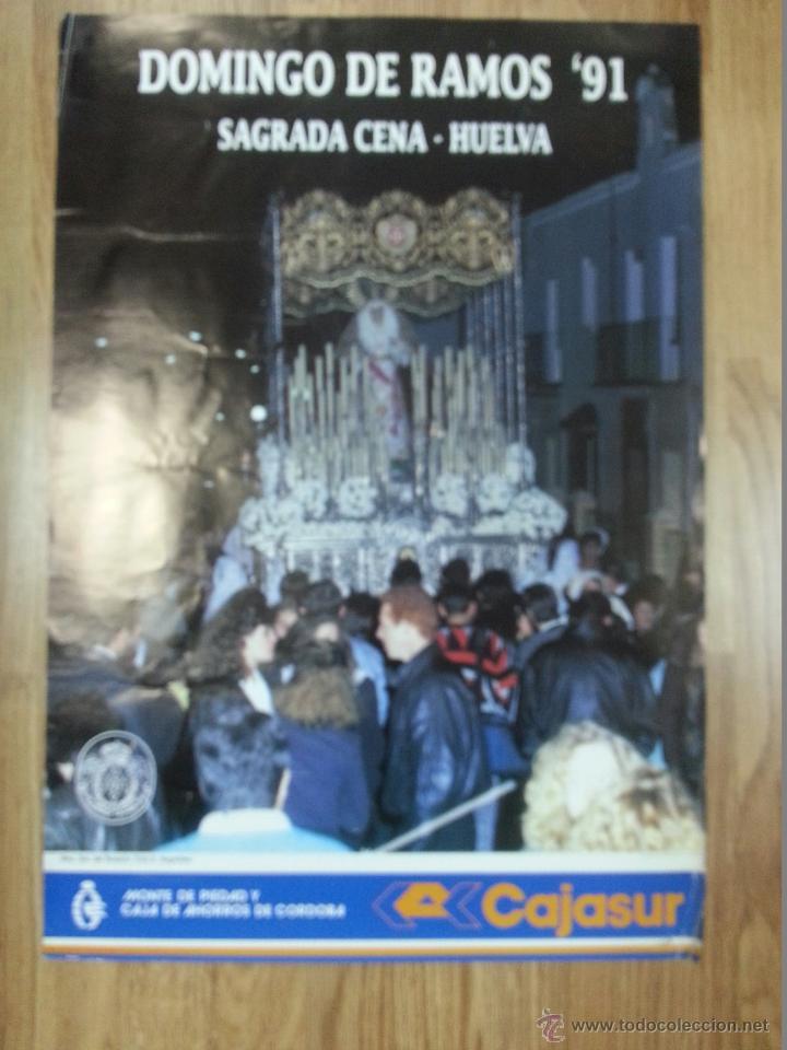 CARTEL SEMANA SANTA HUELVA 1991 47X69 CM (Coleccionismo - Carteles Gran Formato - Carteles Semana Santa)