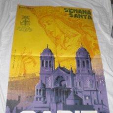 Carteles de Semana Santa: PRECIOSO CARTEL DE SEMANA SANTA DE CADIZ .1965. RICARDO ANAYA . 87 X 55 CMS. MAGNIFICO ESTADO.. Lote 43978930
