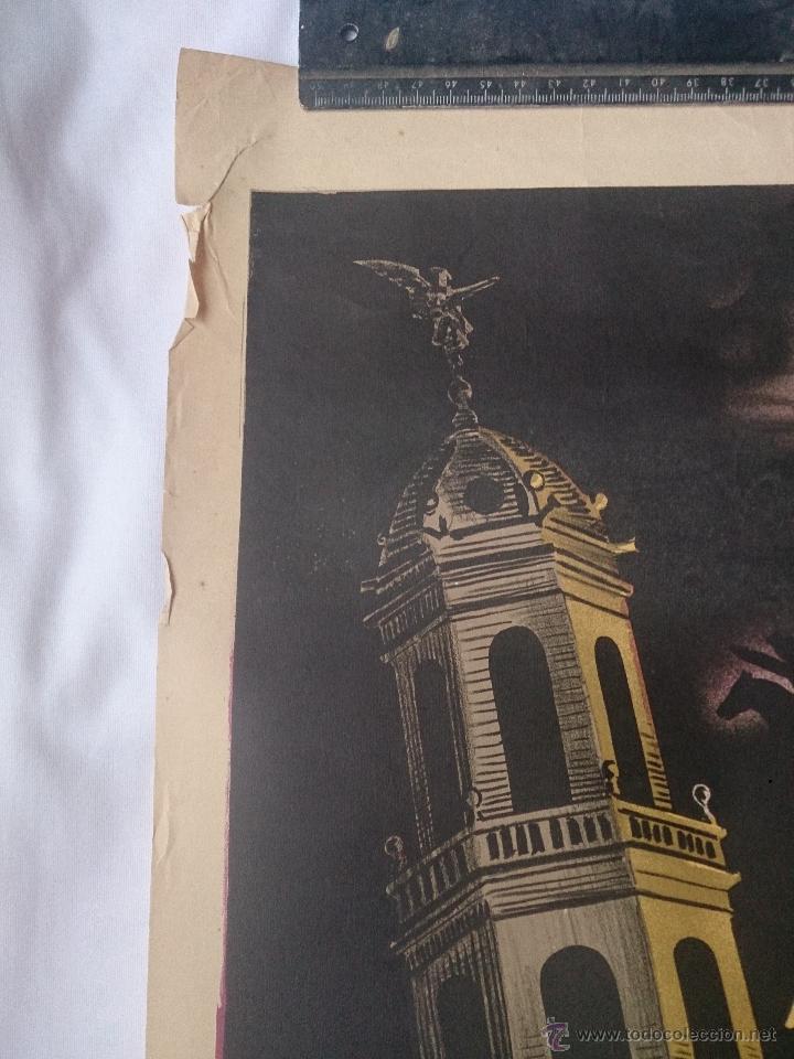 Carteles de Semana Santa: Cartel de la Semana Santa de Villanueva y Geltrú del año 1949. 60 x 100 cm. Cartel original de la - Foto 2 - 43993601