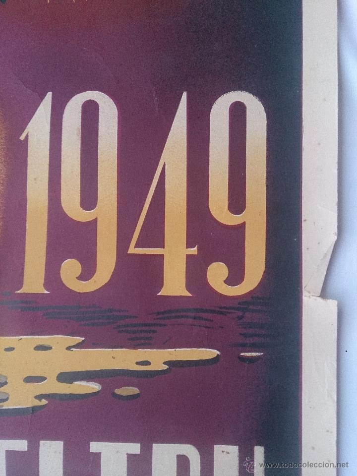 Carteles de Semana Santa: Cartel de la Semana Santa de Villanueva y Geltrú del año 1949. 60 x 100 cm. Cartel original de la - Foto 4 - 43993601