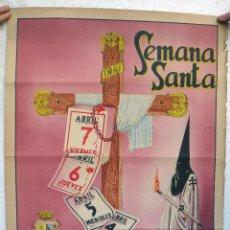 Carteles de Semana Santa: CARTEL SEMANA SANTA , JUMILLA 1950 , MURCIA , ORIGINAL , H. Lote 44286479