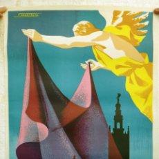 Carteles de Semana Santa: CARTEL SEMANA SANTA , SEVILLA 1965 , ORIGINAL , H. Lote 44286540