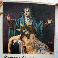 Carteles de Semana Santa: CARTEL SEMANA SANTA , VALLADOLID 1957 , ORIGINAL , H. Lote 44286670