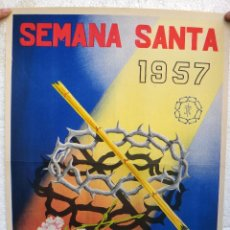 Carteles de Semana Santa: CARTEL SEMANA SANTA ALBACETE 1957 , ORIGINAL , J. Lote 44287329