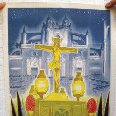 Carteles de Semana Santa: CARTEL SEMANA SANTA , JEREZ AÑOS 1950 , ORIGINAL , J. Lote 44287407