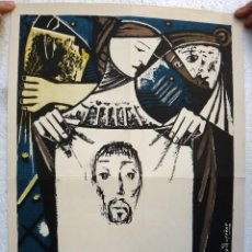 Carteles de Semana Santa: CARTEL SEMANA SANTA , CIUDAD REAL 1954 , ORIGINAL , J. Lote 44287432