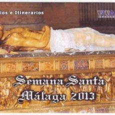 Carteles de Semana Santa: SEMANA SANTA MÁLAGA 2013: HORARIOS E ITINERARIOS DE LOS DESFILES PROCESIONALES. ALL 4 PADEL. Lote 44424884