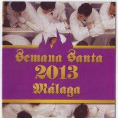 Carteles de Semana Santa: SEMANA SANTA MÁLAGA 2013: HORARIOS E ITINERARIOS DE LOS DESFILES PROCESIONALES. EDIFICIO LUXFOR. Lote 44424970