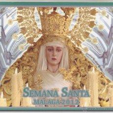 Carteles de Semana Santa: SEMANA SANTA MÁLAGA 2012: HORARIOS E ITINERARIOS DE LOS DESFILES PROCESIONALES. COPICENTRO. Lote 44425114