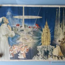 Carteles de Semana Santa: LAMINA DEL XXXV CONGRESO EUCARISTICO - BARCELONA - 1952 PAPA PIO XII. Lote 45653964