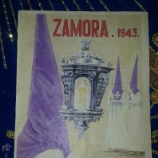 Carteles de Semana Santa: CARTEL SEMANA SANTA ZAMORA 1943 PAPEL TAMAÑO POSTAL PAPEL ORIGINAL. Lote 90509643