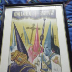 Carteles de Semana Santa: CARTEL SEMANA SANTA DE MÁLAGA AÑO 1956 ENMARCADO. Lote 46226980