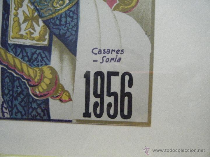 Carteles de Semana Santa: CARTEL SEMANA SANTA DE MÁLAGA AÑO 1956 ENMARCADO - Foto 2 - 46226980