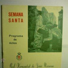 Carteles de Semana Santa: PROGRAMA SEMANA SANTA TARRAGONA-REAL HDAD. JESUS NAZARENO .- 1972- 28 PAG BB. Lote 46504679