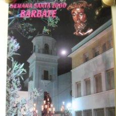 Carteles de Semana Santa: SEMANA SANTA EN BARBATE 2000 CARTEL OFICIAL. Lote 46697551