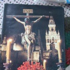 Carteles de Semana Santa: SEMANA SANTA 1992. ENCLAVADO EN LA CRUZ. MONOGRÁFICO SOBRE LOS CRISTOS EN SEVILLA. CAJA SAN FERNANDO. Lote 47010443