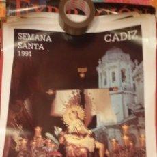 Carteles de Semana Santa: CARTEL SEMANA SANTA DE CADIZ 1991 - VIRGEN DE LAS ANGUSTIAS - MUY BUEN ESTADO. Lote 47268061