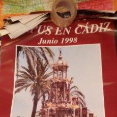 Carteles de Semana Santa: CARTEL CORPUS EN CADIZ 1998 - RELIGIOSO. Lote 47268582