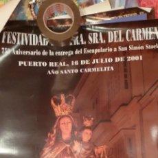 Carteles de Semana Santa: CARTEL RELIGIOSO VIRGEN DEL CARMEN DE PUERTO REAL 2001 - CADIZ. Lote 47268749