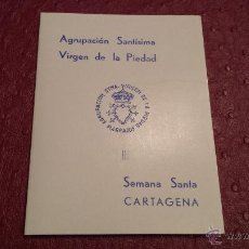 Carteles de Semana Santa: SEMANA SANTA CARTAGENA VIRGEN DE LA PIEDAD MARRAJOS MURCIA. Lote 47739752