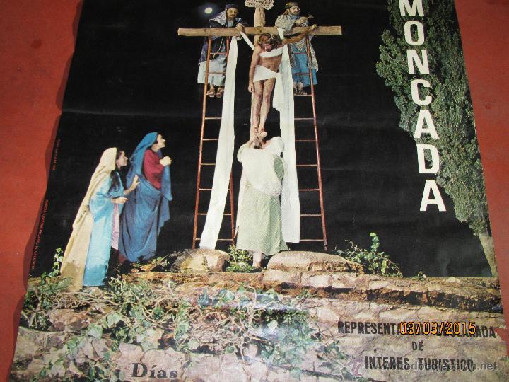Carteles de Semana Santa: Antiguo Cartel del MISTERIO DE LA PASIÓN en MONCADA del año 1968 - Foto 2 - 48107111