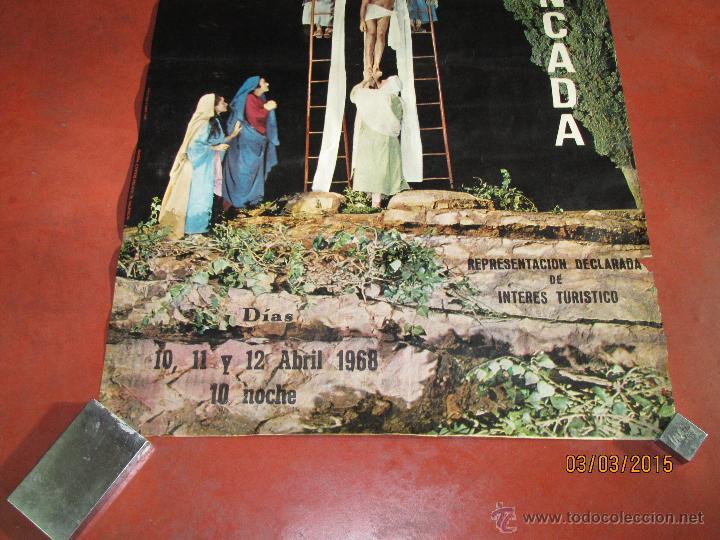 Carteles de Semana Santa: Antiguo Cartel del MISTERIO DE LA PASIÓN en MONCADA del año 1968 - Foto 4 - 48107111