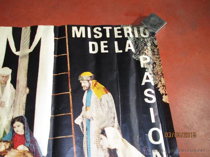Carteles de Semana Santa: Antiguo Cartel del MISTERIO DE LA PASIÓN en MONCADA del año 1970 - Foto 2 - 48107261