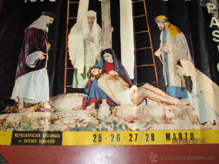 Carteles de Semana Santa: Antiguo Cartel del MISTERIO DE LA PASIÓN en MONCADA del año 1970 - Foto 3 - 48107261