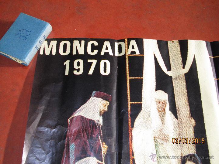 Carteles de Semana Santa: Antiguo Cartel del MISTERIO DE LA PASIÓN en MONCADA del año 1970 - Foto 4 - 48107261