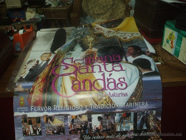 CARTEL DE GRAN TAMAÑO ,SEMANA SANTA DE CANDAS (Coleccionismo - Carteles Gran Formato - Carteles Semana Santa)