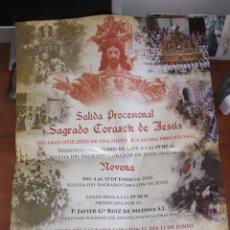 Carteles de Semana Santa: CARTEL SAGRADO CORAZÓN DE JESÚS+DÍPTICO, SALIDA PROCESIONAL-NOVENA. AÑO 2015 - PADRE ARNAIZ . Lote 49905184