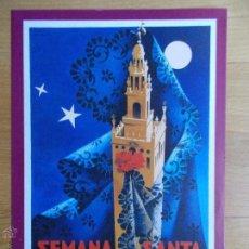 Carteles de Semana Santa: LAMINA CARTEL SEMANA SANTA SEVILLA 1955. Lote 50573707